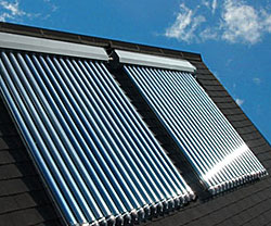 Solar hot water heaters create efficient homes