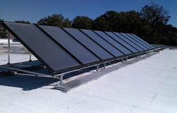 Solar thermal for commercial laundry applications